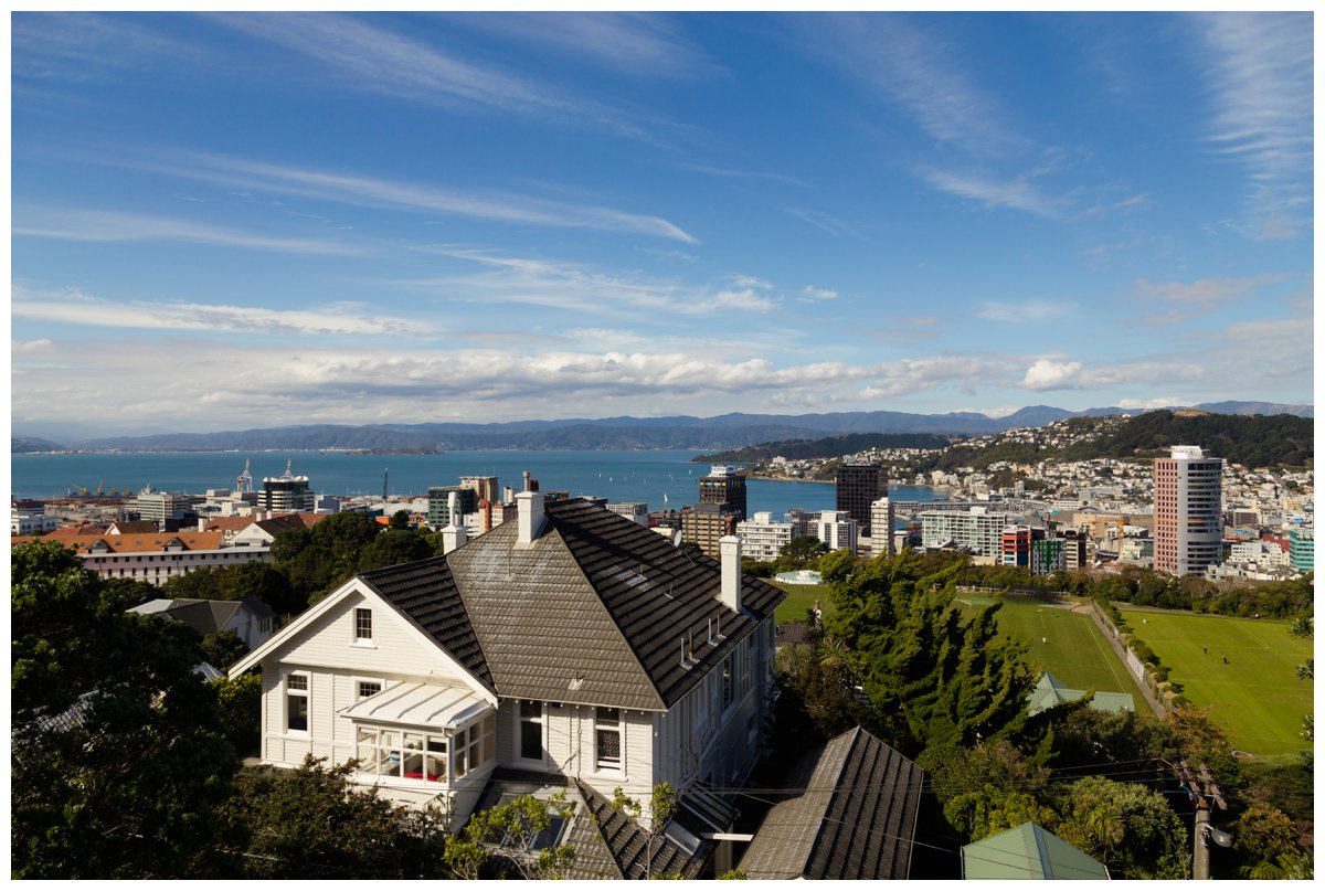 View of Wellington from top of cable car