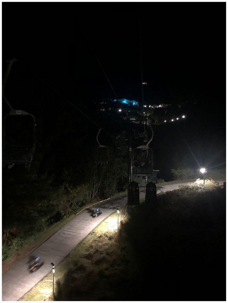 Skyline Rotorua night time luge
